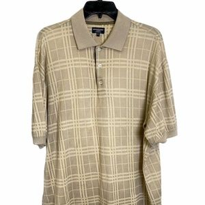 Burberry Men's Casual Brown Polo Shirt Large